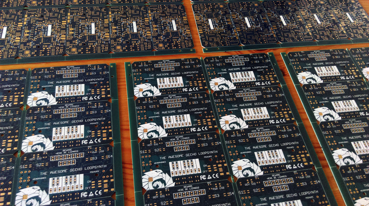 Home Of The Awesome Gecho Loopsynth Diy Pcb Do It Yourself Printed Circuit Boards Board Comes In Two Colours Dark Blue Turquoise