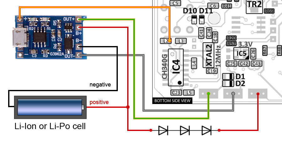 diy kit - installing rechargeable battery | gechologic.com electric golf cart battery diagram