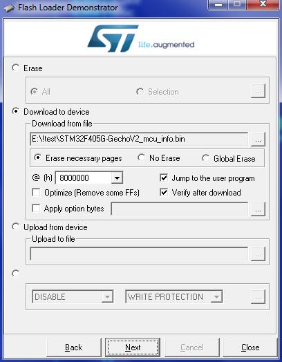 STM32 Flash Loader how-to   gechologic com